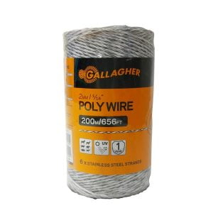 G62004 2mm Poly Wire White 200M